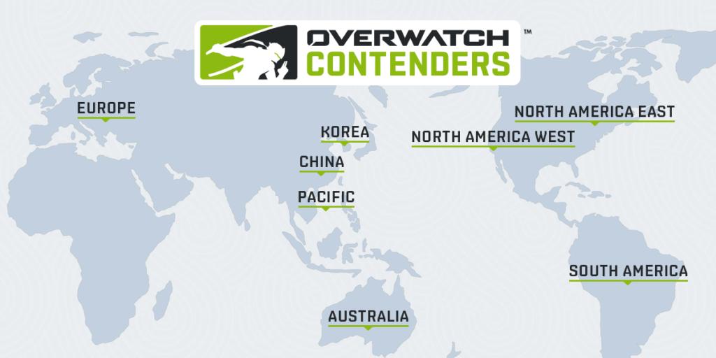 Overwatch Contenders Regions