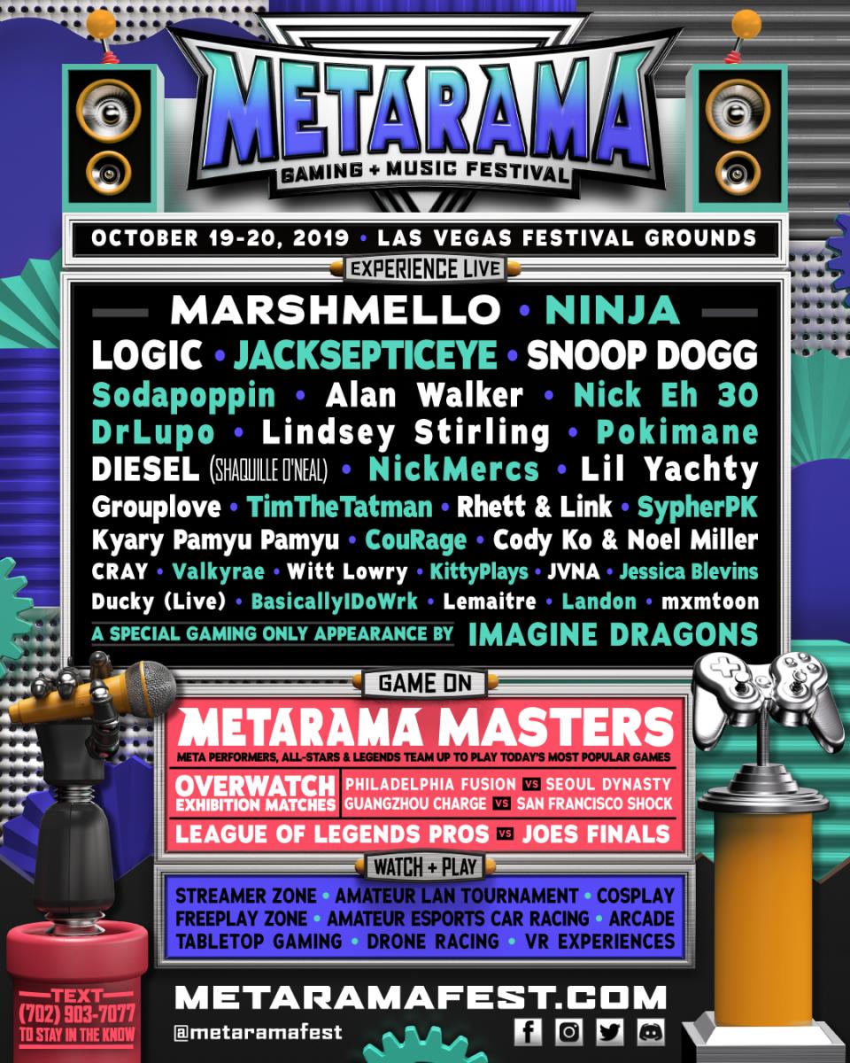 Metarama Gaming + Music Festival Bill
