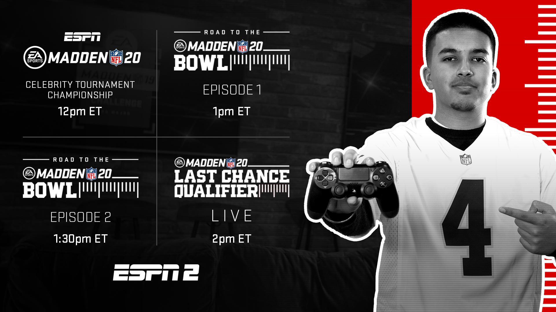 EA Sports, ESPN plot extensive Madden NFL 20 programming