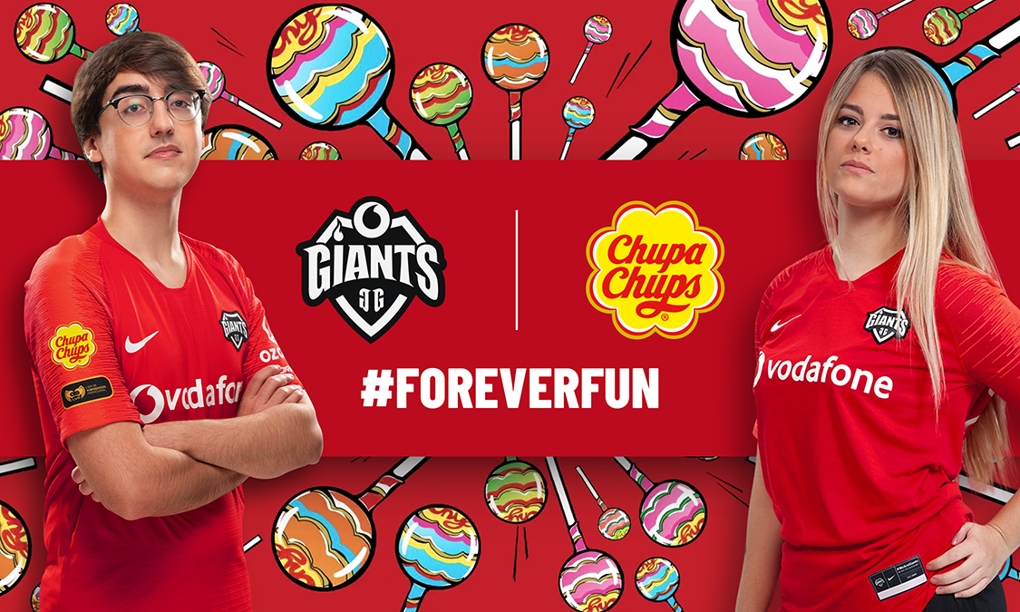 Vodafone Giants pick up Chupa Chups partnership