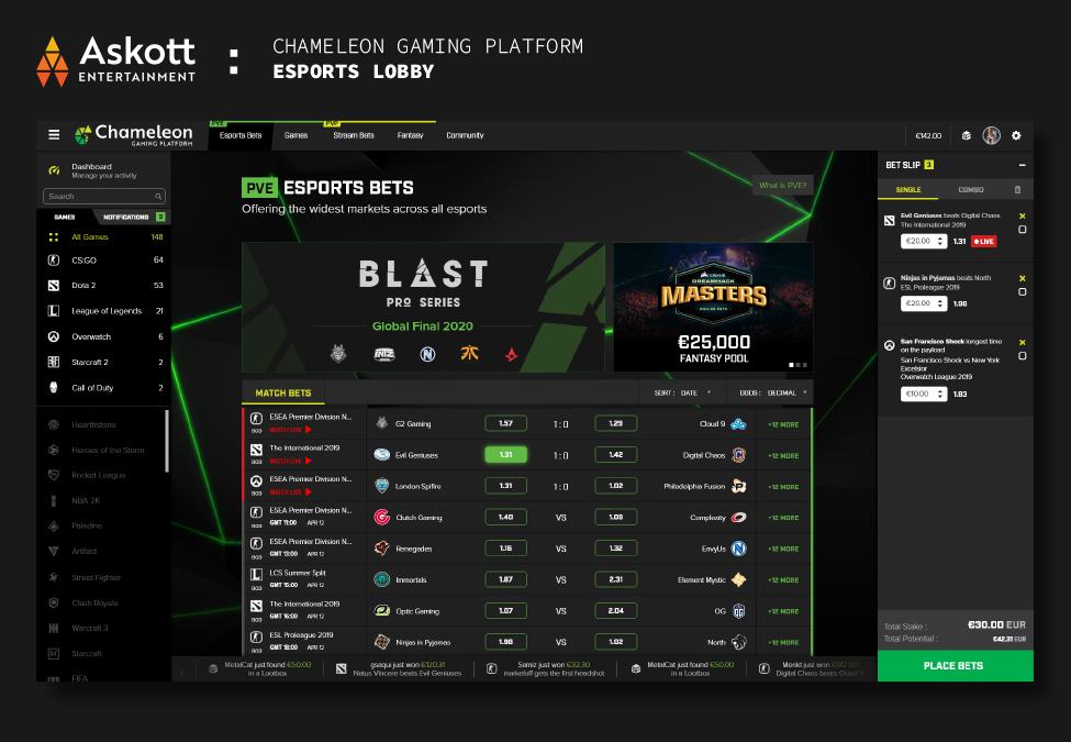 Askott Entertainment Esports Lobby