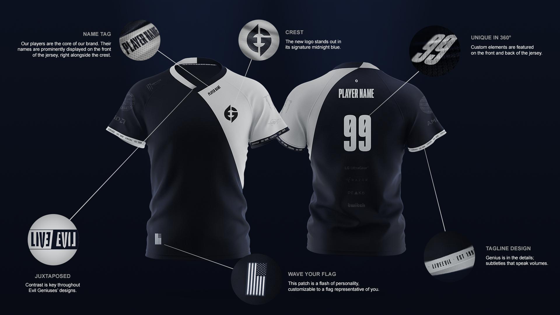 Evil Geniuses new jersey