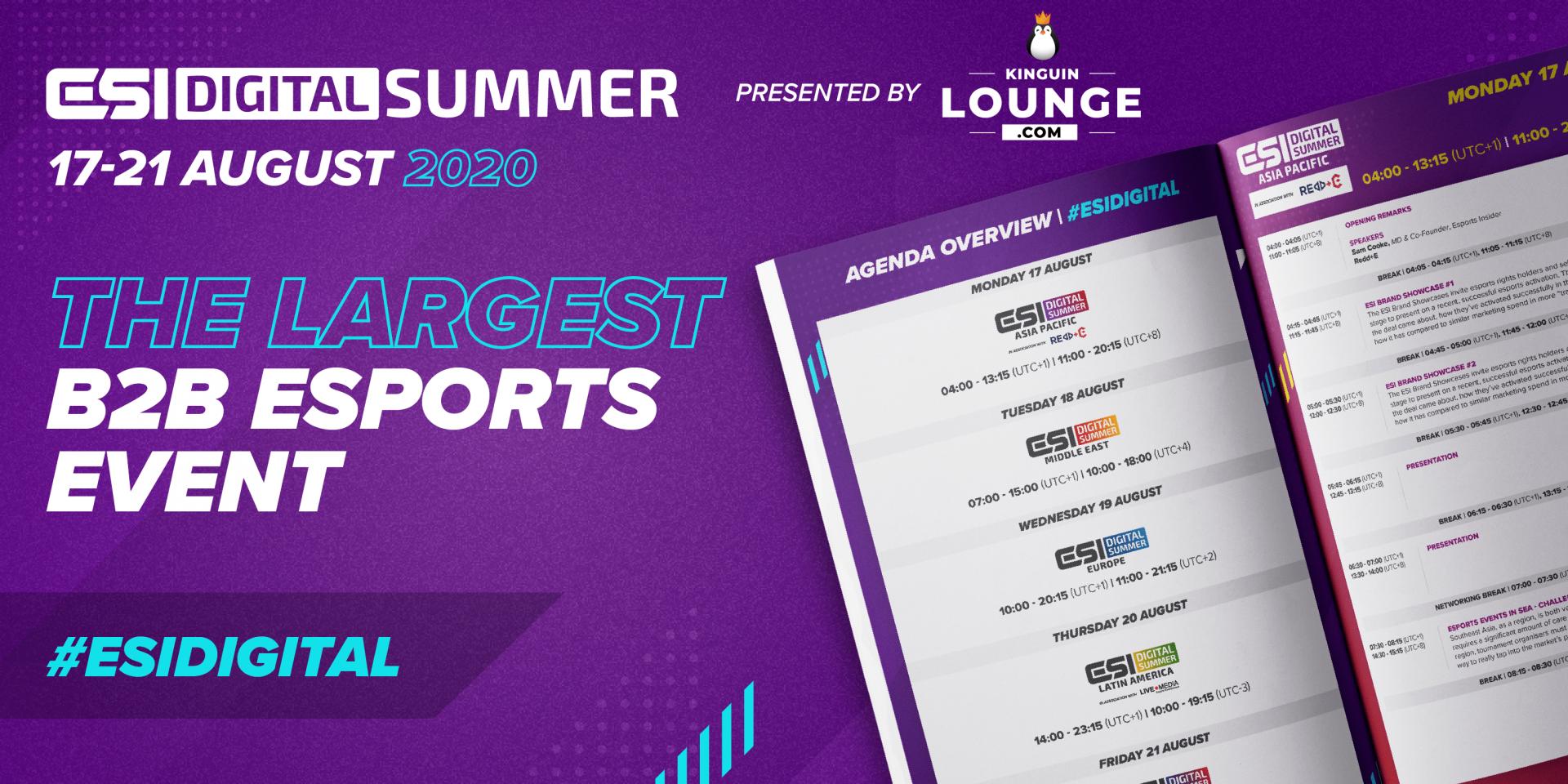 ESI Digital Summer Agenda Banner