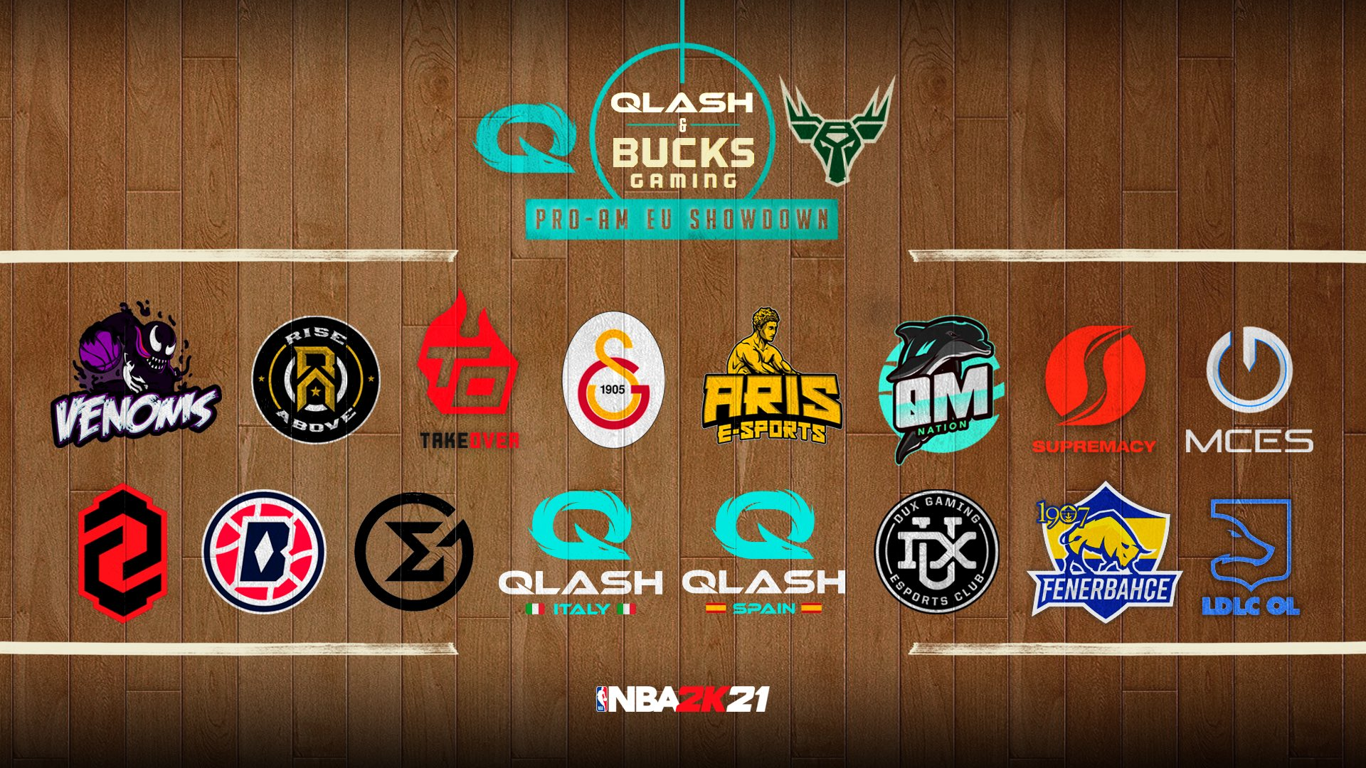 Bucks Gaming teams with QLASH for European NBA 2K competition