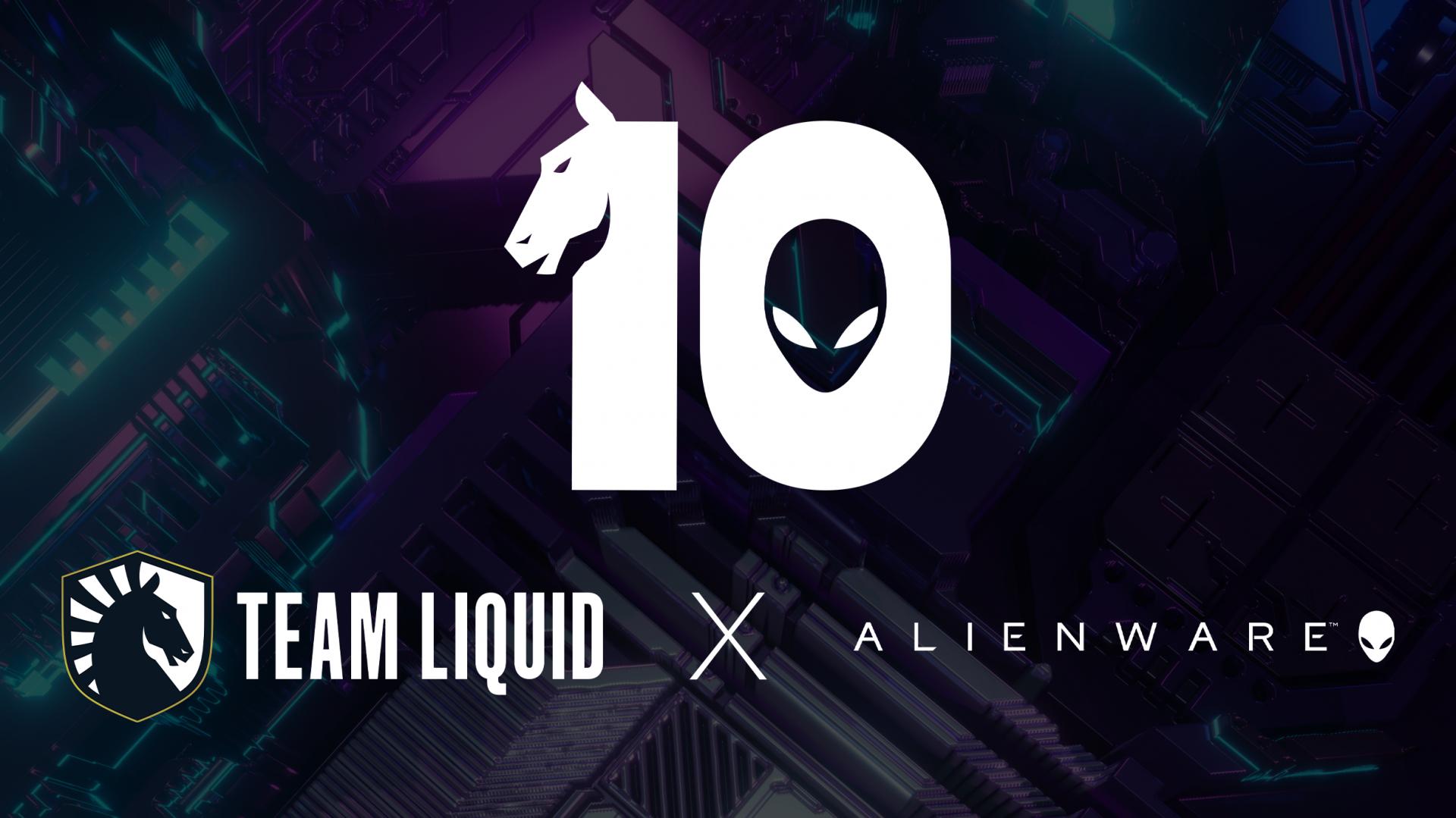 Team Liquid Alienware 10 year partnership Liquid+