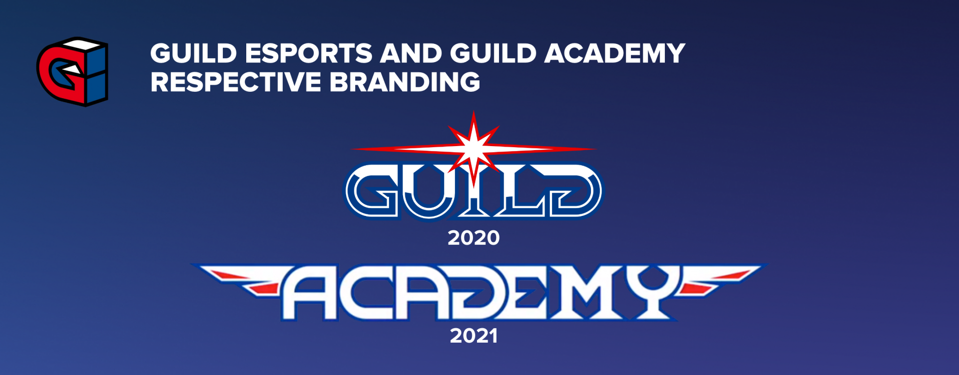 GUILD ESPORTS AND GUILD ACADEMY RESPECTIVE BRANDING