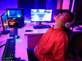 Gamer sleeping