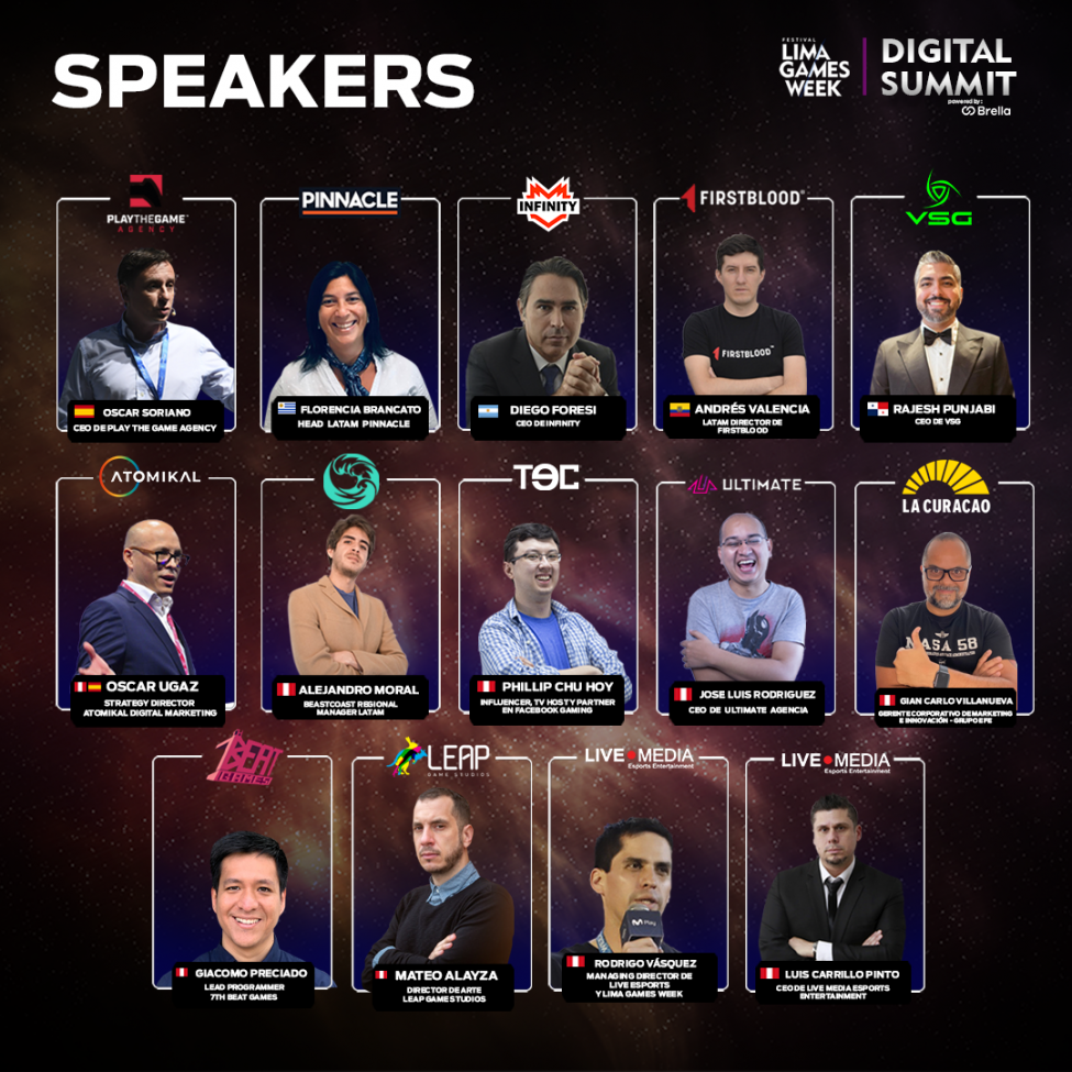 Lima Games Week Esports Summit Speakers