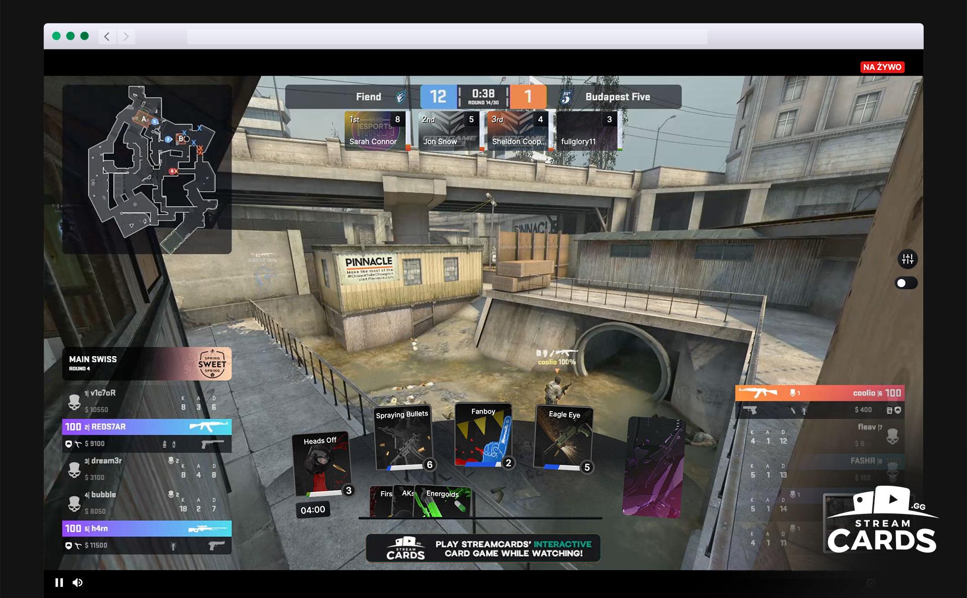 StreamCards Screenshot