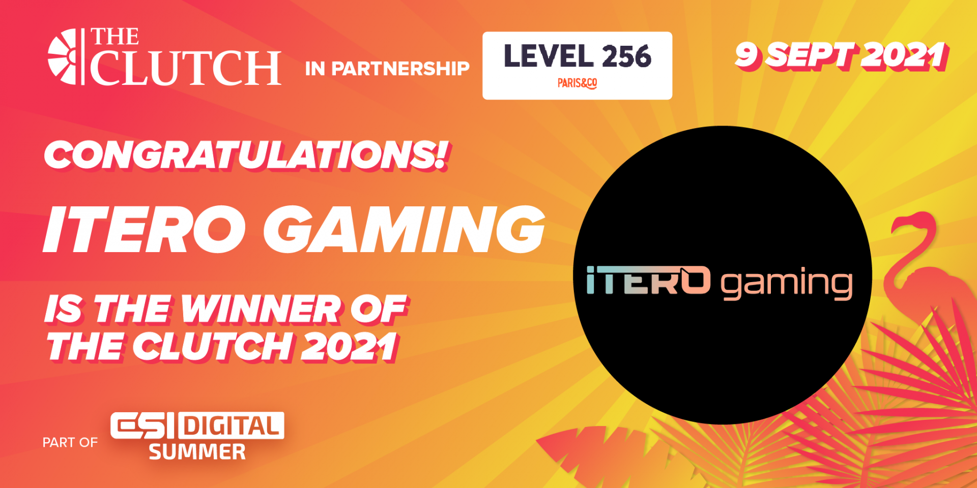iTero Gaming wins The Clutch 2021