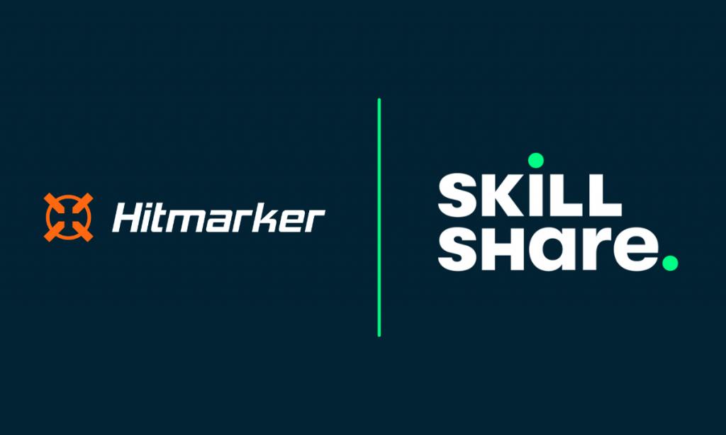 Hitmarker Skillshare logos